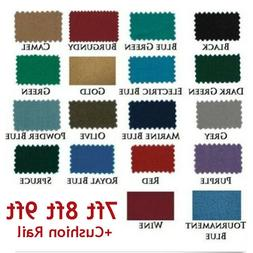 US 7/8/9ft Worsted Billiard Pool Table Cloth Billiard Felt w