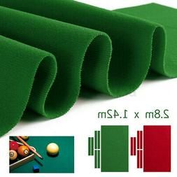 US 9ft Durable Pool Table Cloth Felt W/ 6x Strips Soft For S
