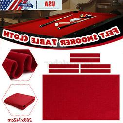 US 9ft Professional Pool Table Cloth Felt + 6 Felt Strips So
