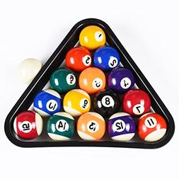 T&R sports USA Mini Pool Balls Set, 1.5-Inch Billiard Balls